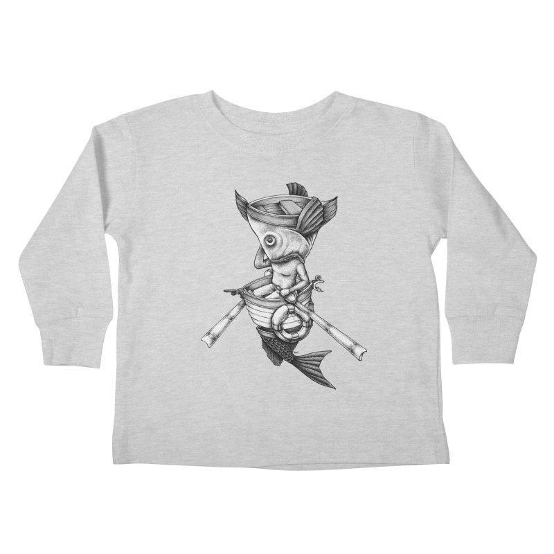 fishbrella Kids Toddler Longsleeve T-Shirt by Sadi Tekin's Shop