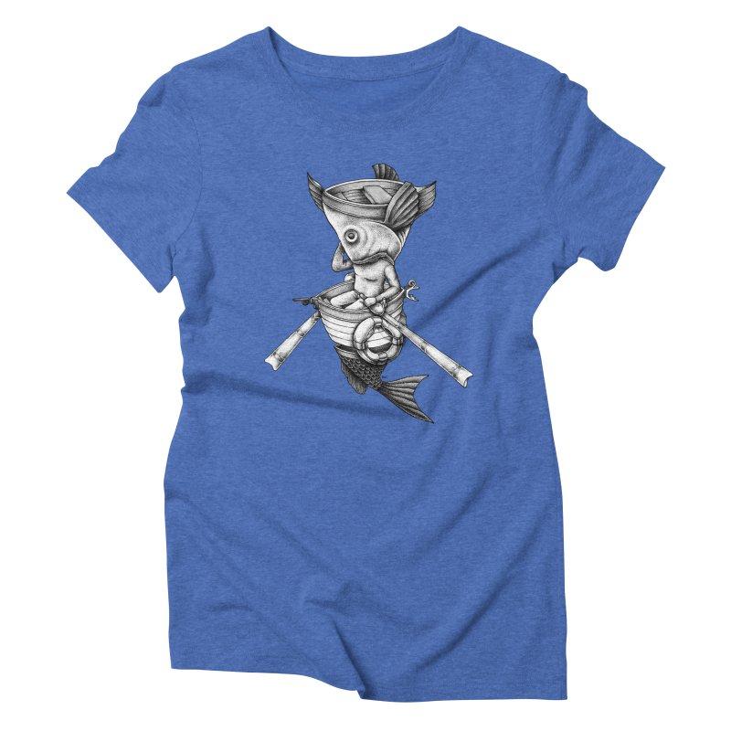 fishbrella Women's Triblend T-Shirt by Sadi Tekin's Shop