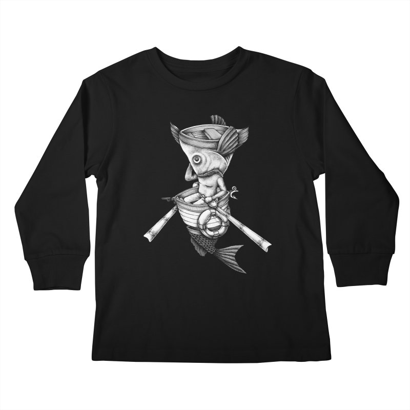 fishbrella Kids Longsleeve T-Shirt by Sadi Tekin's Shop