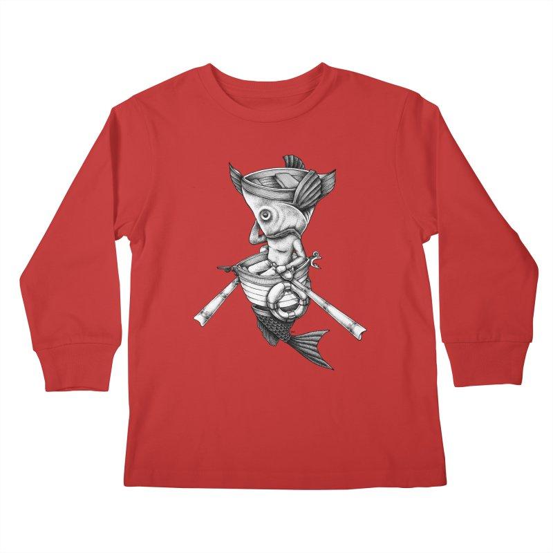 fishbrella Kids Longsleeve T-Shirt by Sadi Tekin's Shop