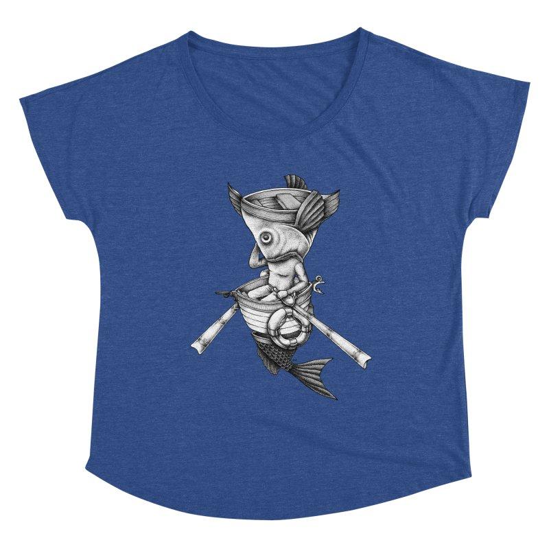 fishbrella Women's Scoop Neck by Sadi Tekin's Shop