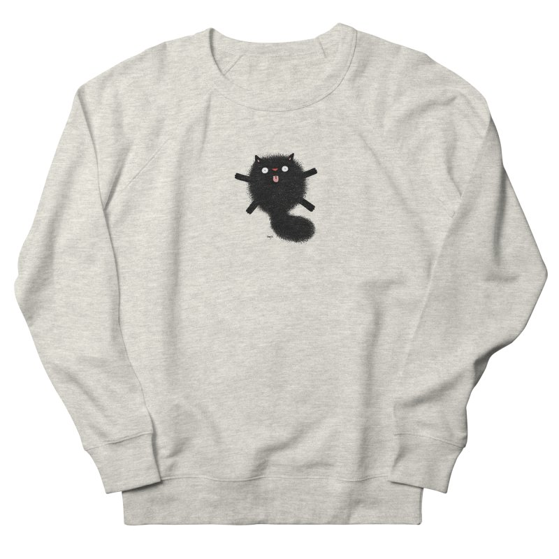 Little Black  Men's French Terry Sweatshirt by Sadi Tekin's Shop