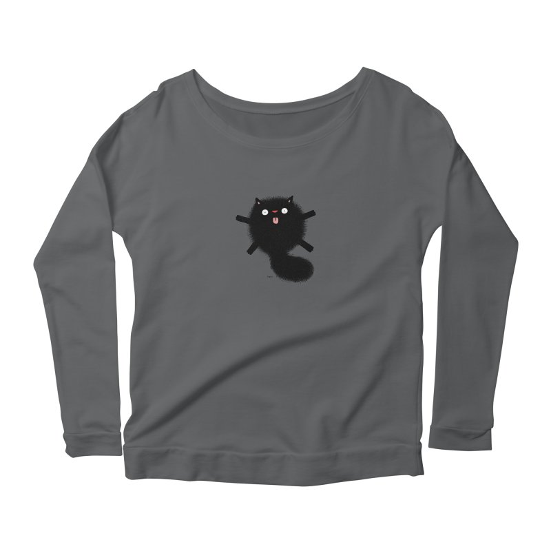 Little Black  Women's Scoop Neck Longsleeve T-Shirt by Sadi Tekin's Shop