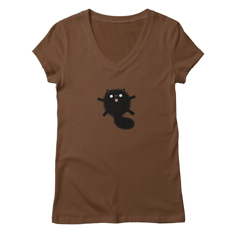 Little Black  Women's Regular V-Neck by Sadi Tekin's Shop
