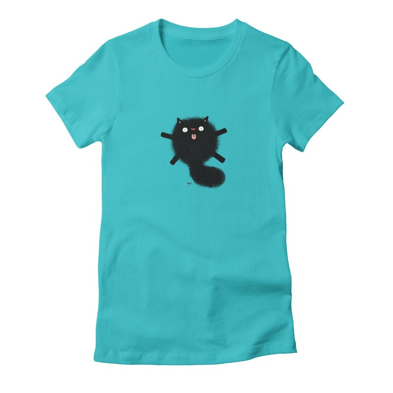 Little Black  Women's Fitted T-Shirt by Sadi Tekin's Shop