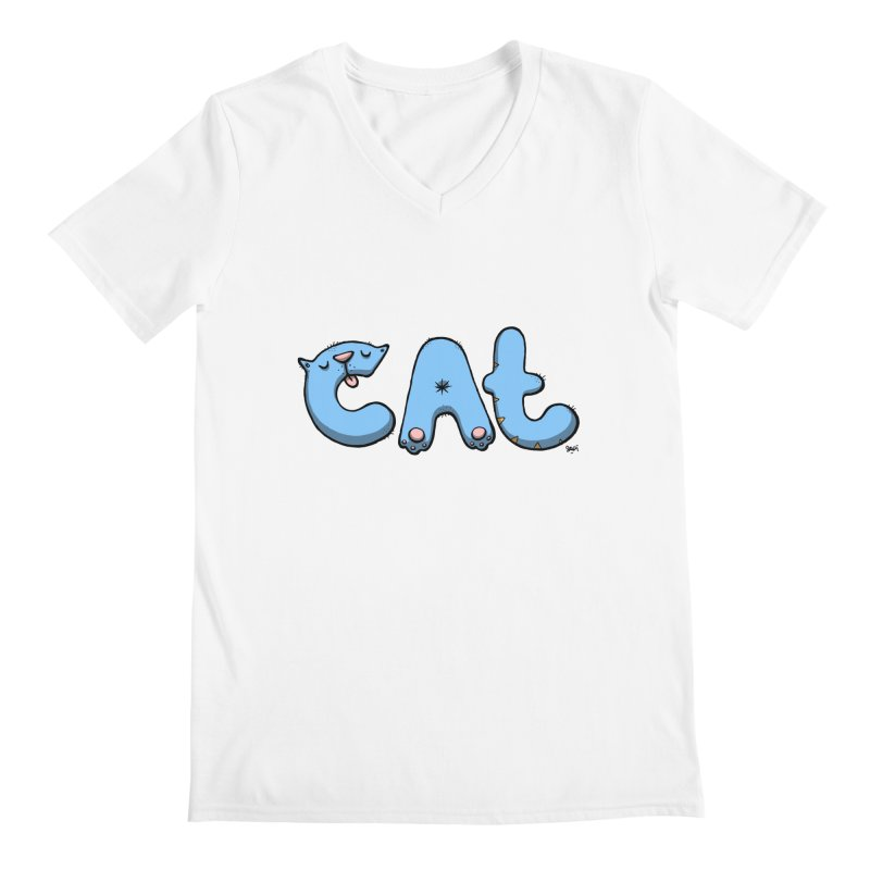 C.A.T. Men's V-Neck by Sadi Tekin's Shop