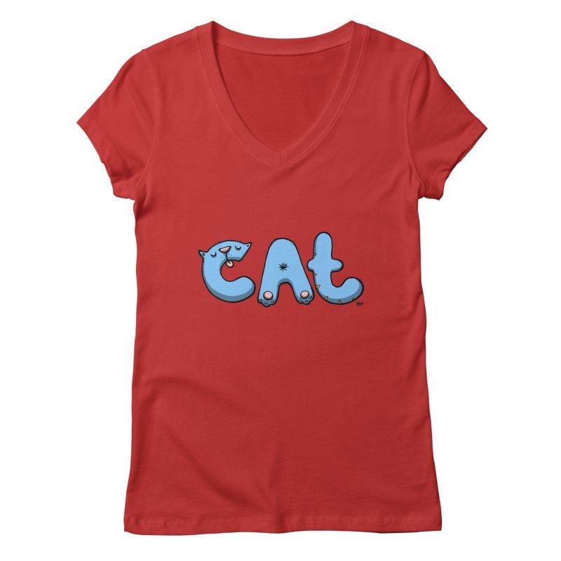 C.A.T. Women's V-Neck by Sadi Tekin's Shop