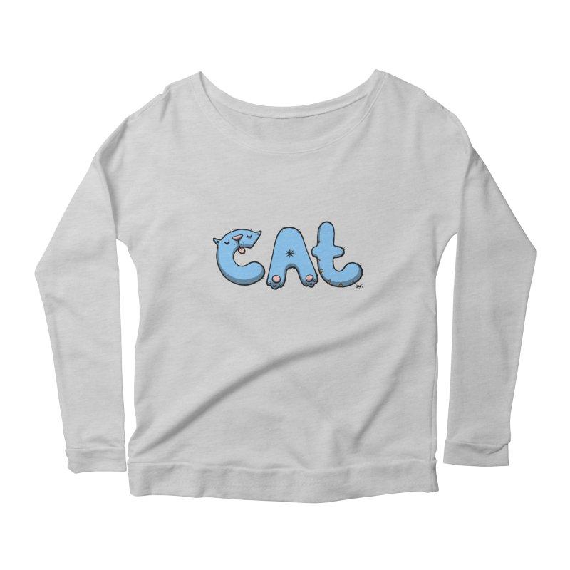 C.A.T. Women's Scoop Neck Longsleeve T-Shirt by Sadi Tekin's Shop