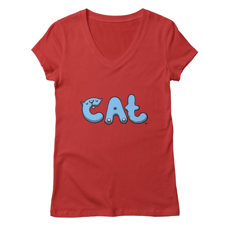 C.A.T. Women's V-Neck by Sadi Tekin's Shop