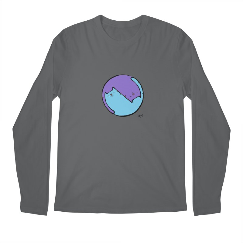 Yin Yang Meow Men's Regular Longsleeve T-Shirt by Sadi Tekin's Shop
