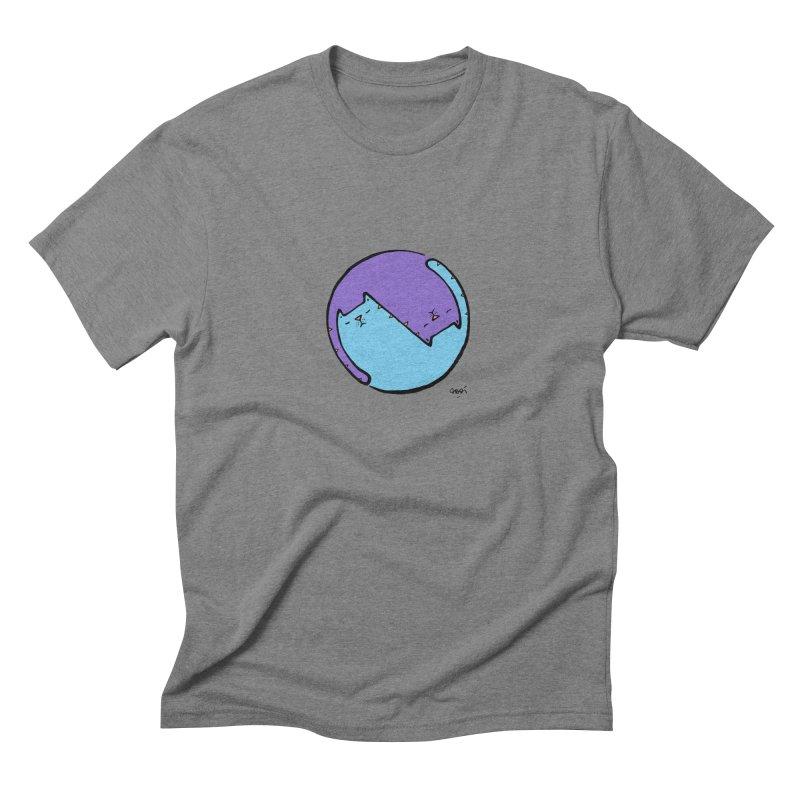 Yin Yang Meow Men's Triblend T-Shirt by Sadi Tekin's Shop