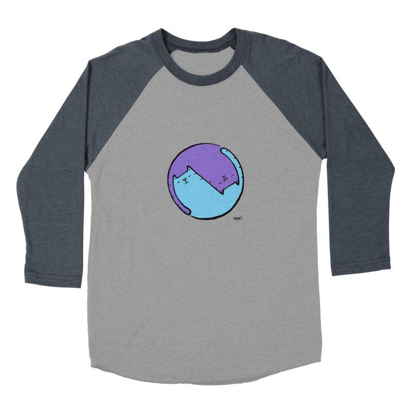 Yin Yang Meow Men's Baseball Triblend Longsleeve T-Shirt by Sadi Tekin's Shop