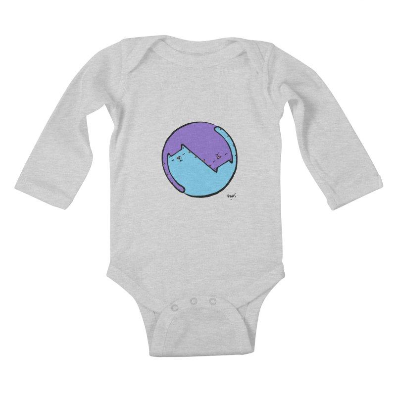 Yin Yang Meow Kids Baby Longsleeve Bodysuit by Sadi Tekin's Shop