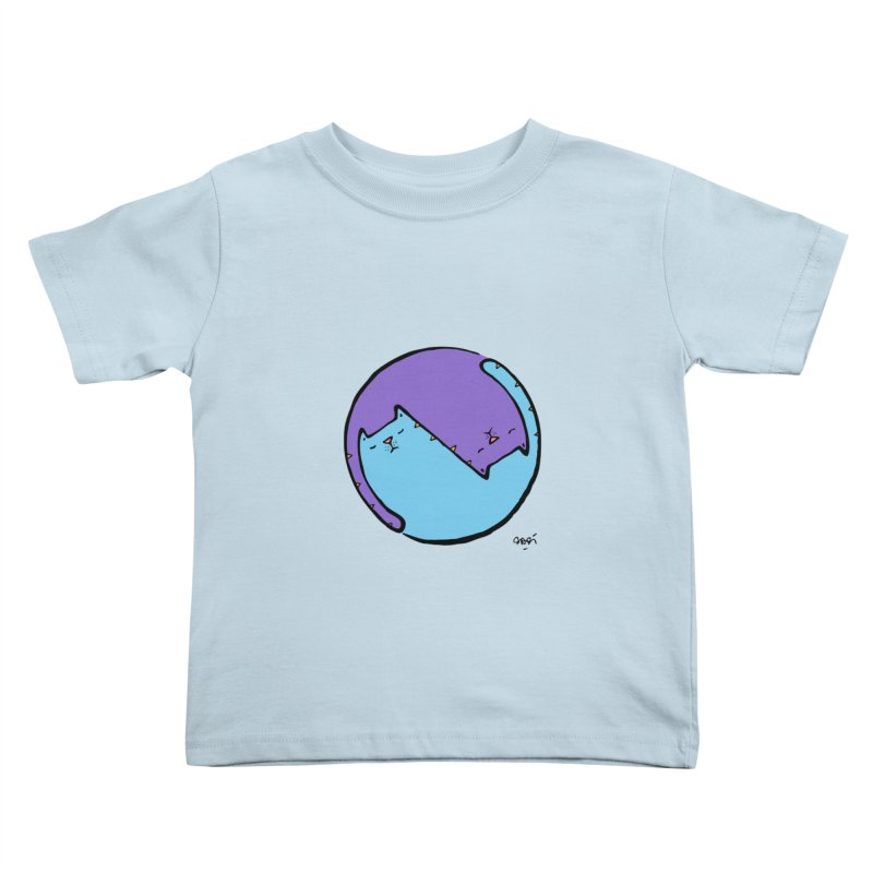 Yin Yang Meow Kids Toddler T-Shirt by Sadi Tekin's Shop