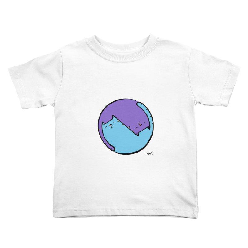 Yin Yang Meow Kids Toddler T-Shirt by Sadi Tekin's Shop