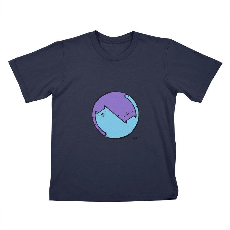 Yin Yang Meow Kids T-Shirt by Sadi Tekin's Shop