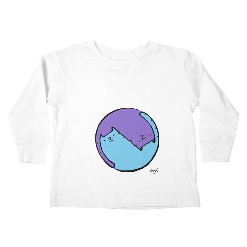 Yin Yang Meow Kids Toddler Longsleeve T-Shirt by Sadi Tekin's Shop