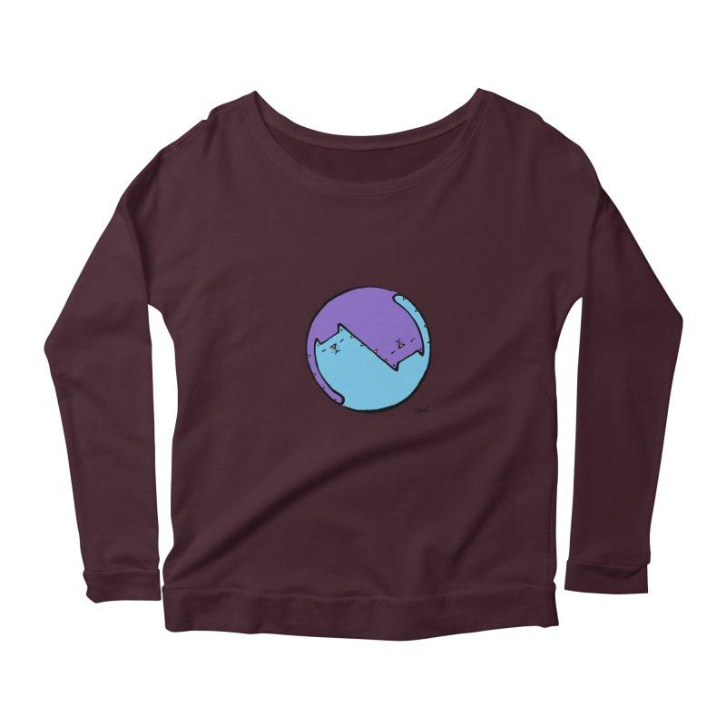 Yin Yang Meow Women's Scoop Neck Longsleeve T-Shirt by Sadi Tekin's Shop