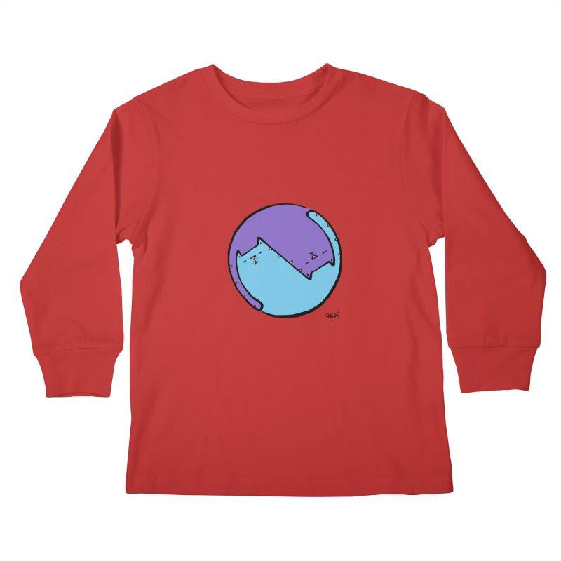 Yin Yang Meow Kids Longsleeve T-Shirt by Sadi Tekin's Shop
