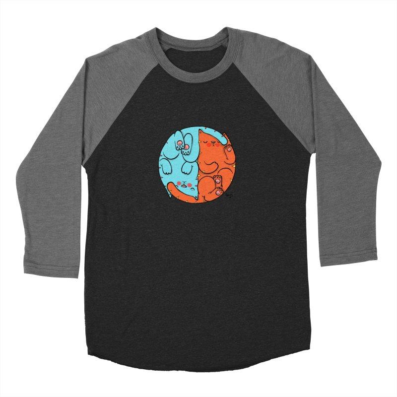 cat'n roll Men's Baseball Triblend Longsleeve T-Shirt by Sadi Tekin's Shop