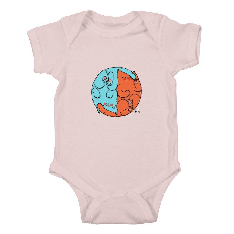 cat'n roll Kids Baby Bodysuit by Sadi Tekin's Shop