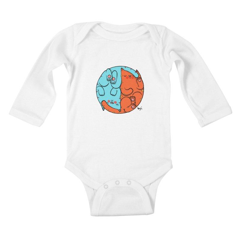 cat'n roll Kids Baby Longsleeve Bodysuit by Sadi Tekin's Shop