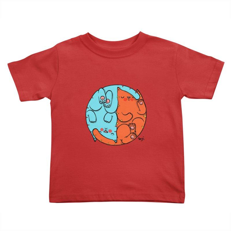 cat'n roll Kids Toddler T-Shirt by Sadi Tekin's Shop