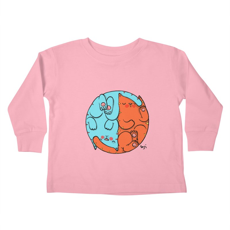 cat'n roll Kids Toddler Longsleeve T-Shirt by Sadi Tekin's Shop