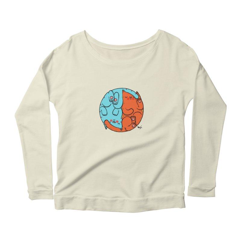 cat'n roll Women's Scoop Neck Longsleeve T-Shirt by Sadi Tekin's Shop