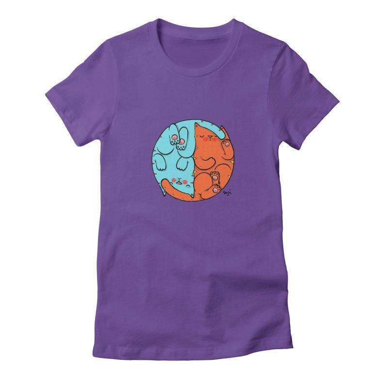 cat'n roll Women's Fitted T-Shirt by Sadi Tekin's Shop