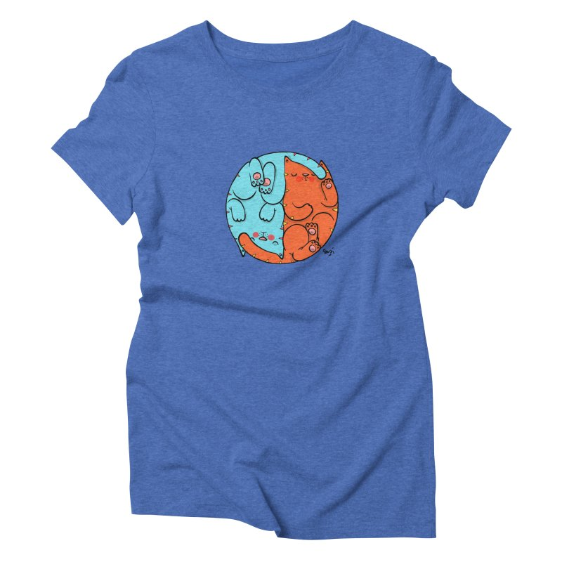 cat'n roll Women's Triblend T-Shirt by Sadi Tekin's Shop
