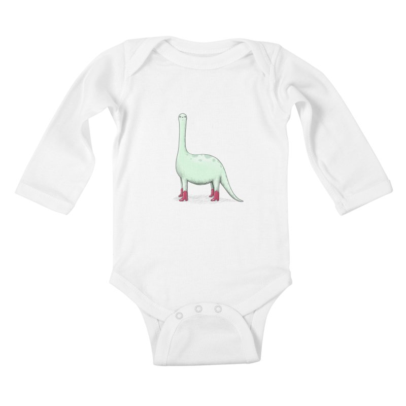 Derposaurus Kids Baby Longsleeve Bodysuit by Sad Salesman's Shirts