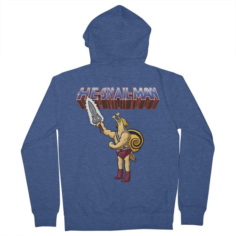 He-Snail-Man Women's French Terry Zip-Up Hoody by Sad Salesman's Shirts