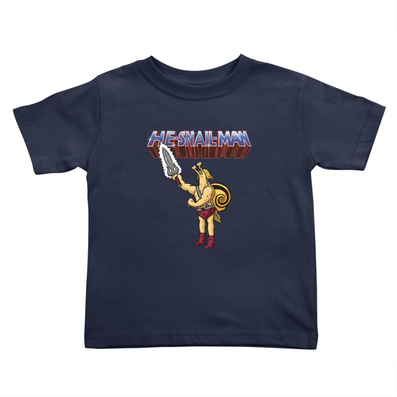 He-Snail-Man Kids Toddler T-Shirt by Sad Salesman's Shirts