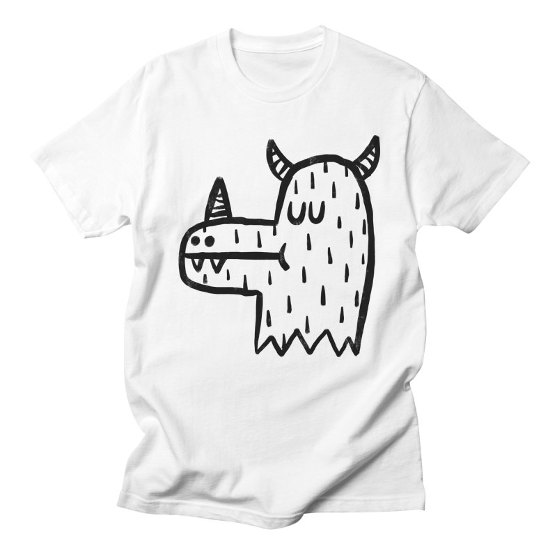 I Kaiju in Men's Regular T-Shirt White by Sad Salesman's Shirts