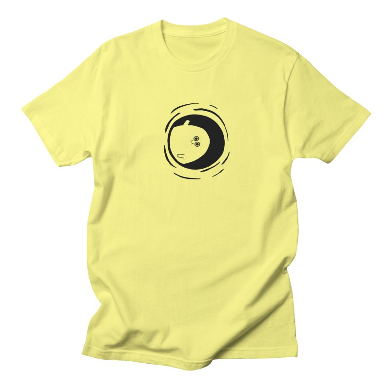 Hi in Men's Regular T-Shirt Lemon by Sad Salesman's Shirts