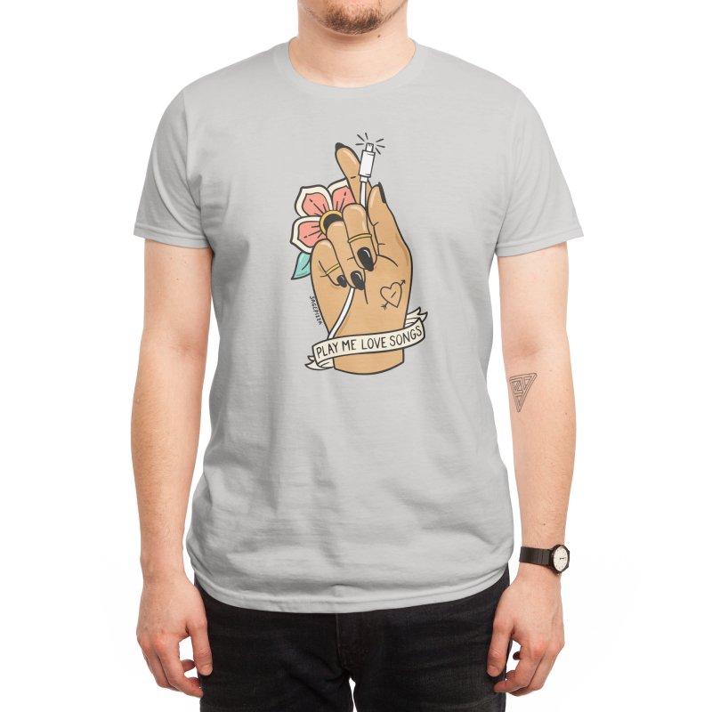 LOVE SONGS (LIGHT) Men's T-Shirt by Sagepizza