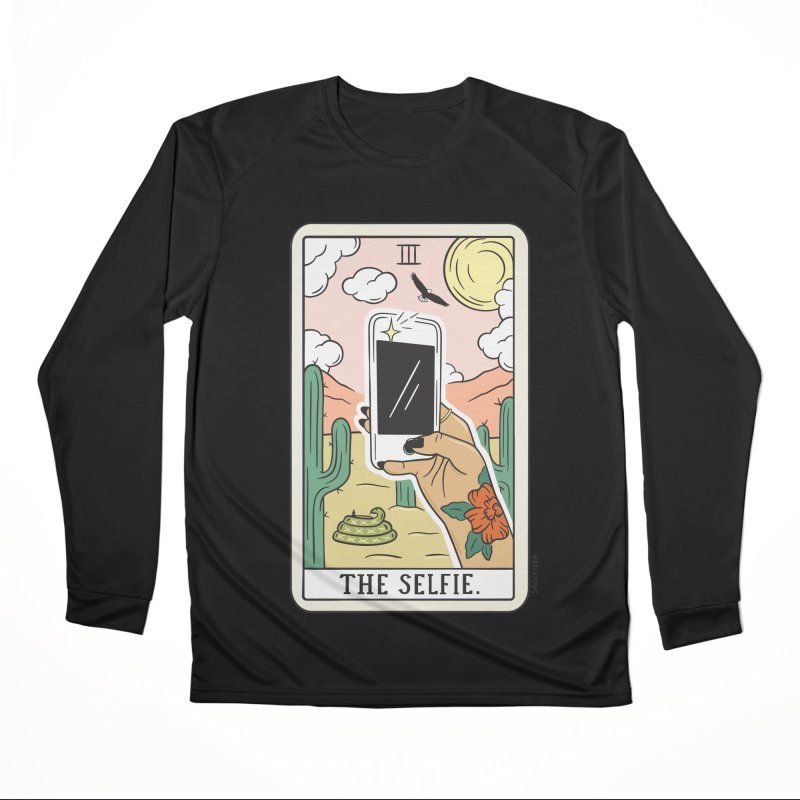 SELFIE READING (LIGHT) Women's Longsleeve T-Shirt by Sagepizza
