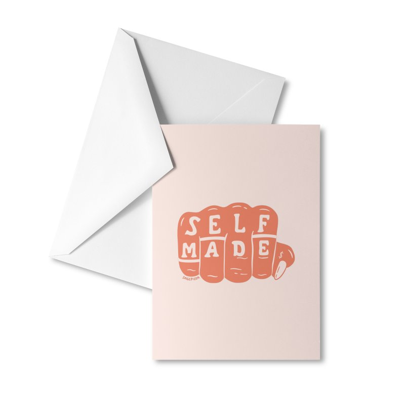 Self Made (Peach) Accessories Greeting Card by Sagepizza