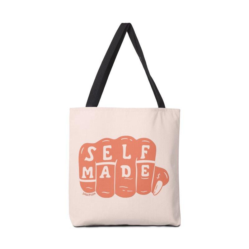 Self Made (Peach) Accessories Bag by Sagepizza