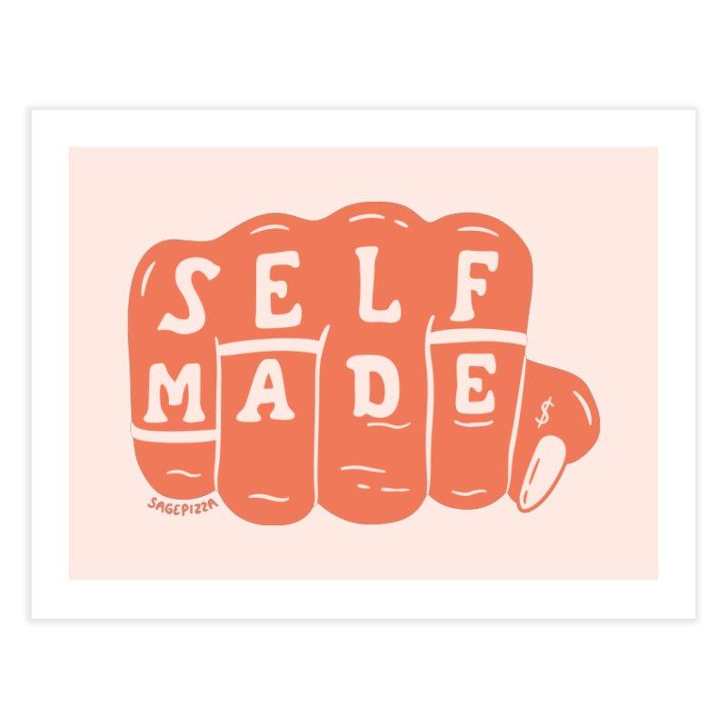 Self Made (Peach) Home Fine Art Print by Sagepizza