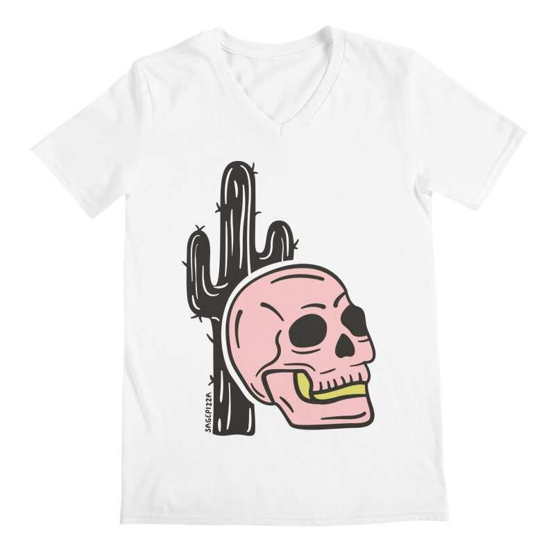 Desert Skull Men's V-Neck by Sagepizza