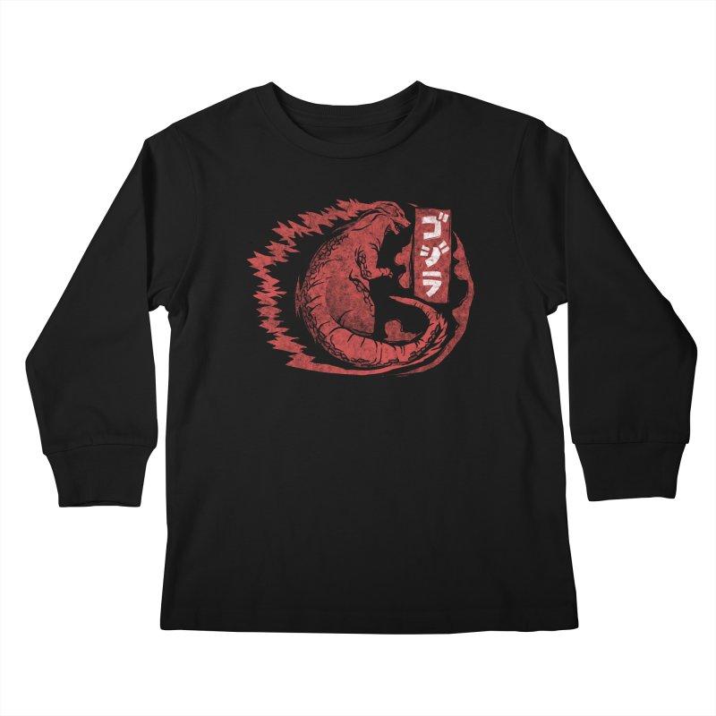 Gojira Kids Longsleeve T-Shirt by saimen's Artist Shop