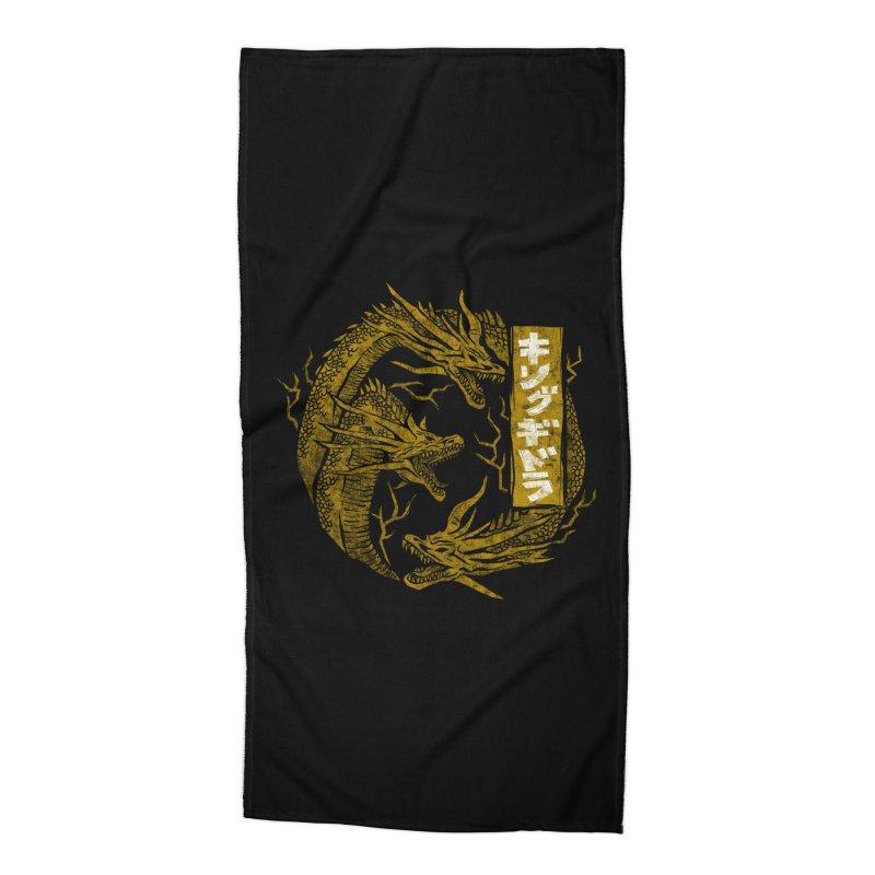Kingu Ghidora Accessories Beach Towel by saimen's Artist Shop