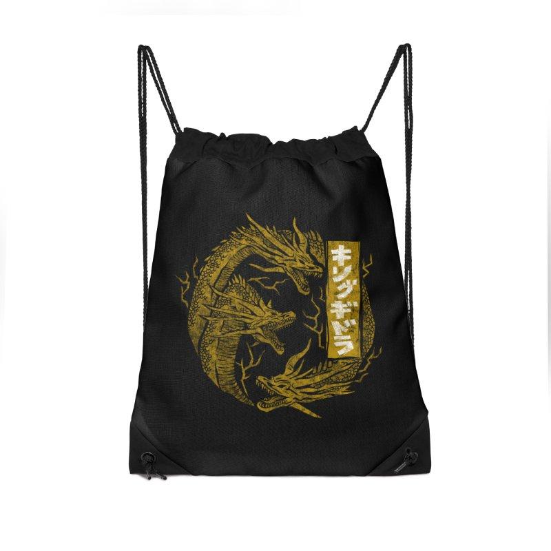 Kingu Ghidora Accessories Drawstring Bag Bag by saimen's Artist Shop