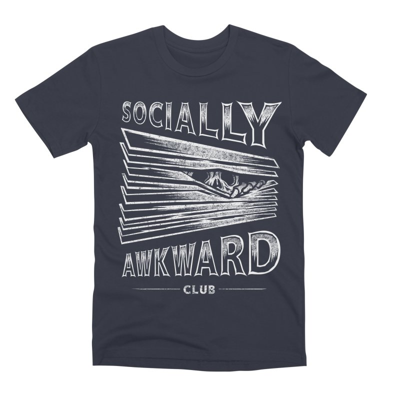 Socially Awkward Club Men's Premium T-Shirt by saimen's Artist Shop