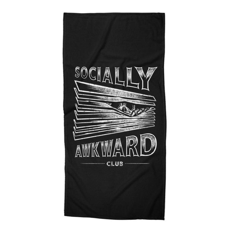 Socially Awkward Club Accessories Beach Towel by saimen's Artist Shop