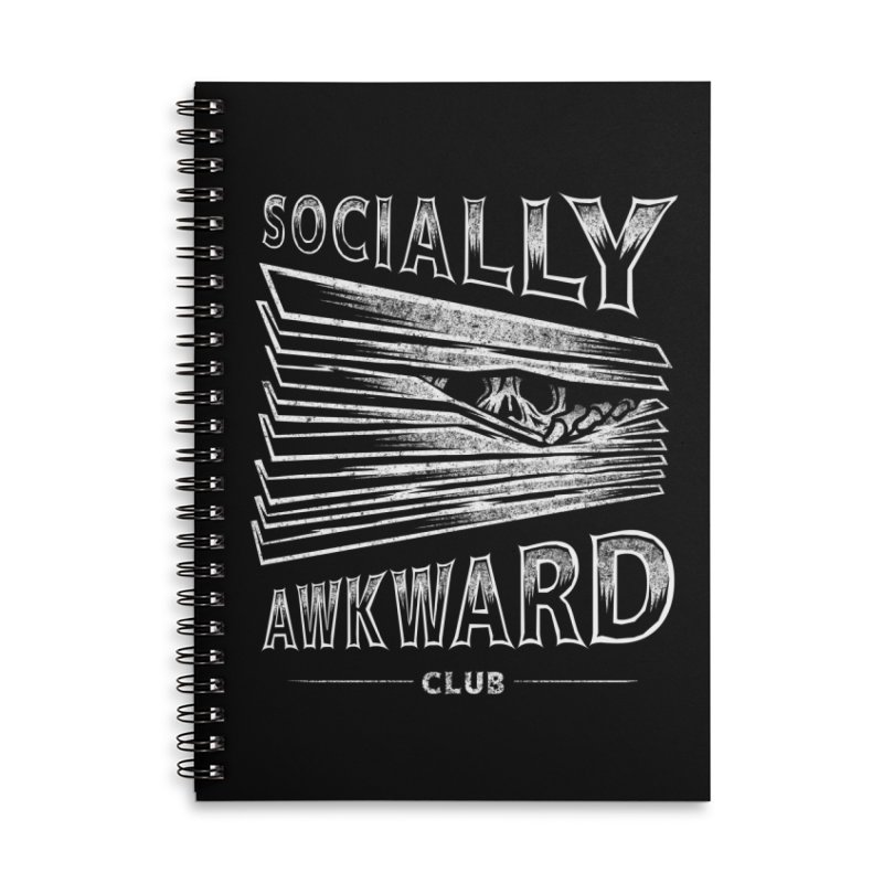 Socially Awkward Club Accessories Lined Spiral Notebook by saimen's Artist Shop