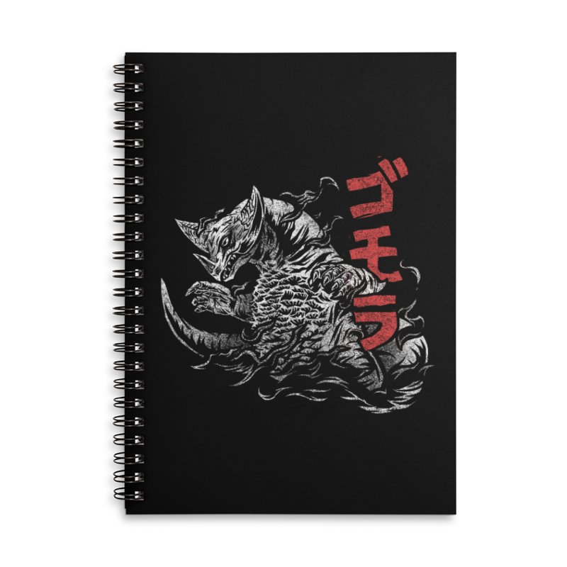 Gomora Accessories Lined Spiral Notebook by saimen's Artist Shop