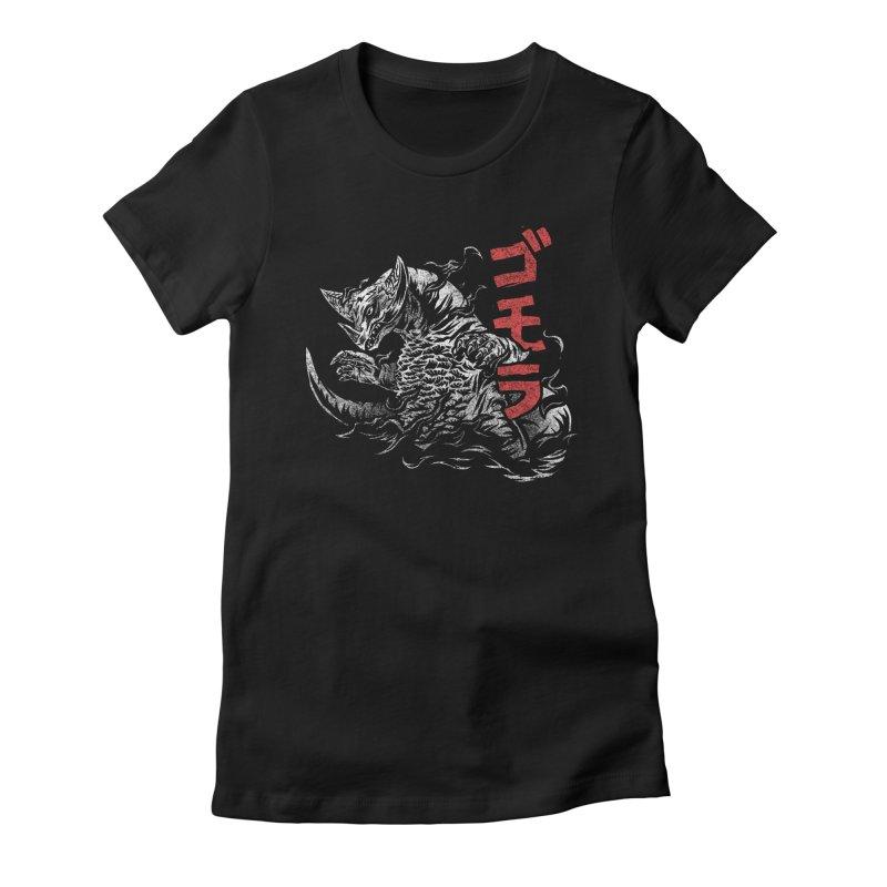 Gomora Women's Fitted T-Shirt by saimen's Artist Shop